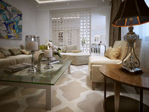 Living room Arabic style Stock Photo