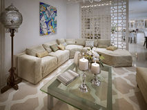 Living room Arabic style Royalty Free Stock Photography