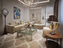 Living room Arabic style Stock Image
