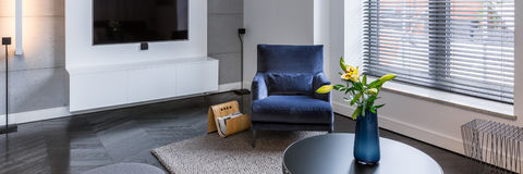 Living room with armchair Stock Photos