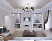 Living room, art deco style, classic style Royalty Free Stock Photography