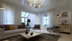 Living room art deco style Royalty Free Stock Photos