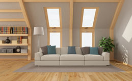 Living room in the attic Royalty Free Stock Photos