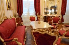 Living room of the Austrian Emperors Stock Photo