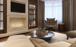 Living room avant-garde style Royalty Free Stock Photo