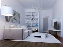 Living room avant-garde style Stock Image
