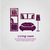 Living room background vector llustration Royalty Free Stock Photos