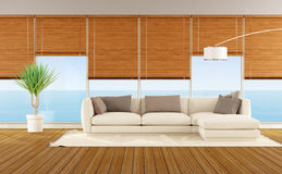 Living room of a beach house Royalty Free Stock Images