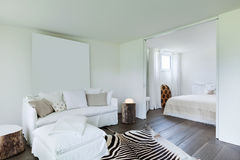 Living room and bedroom Royalty Free Stock Image
