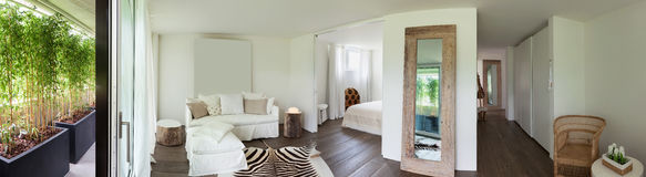 Living room and bedroom Stock Images