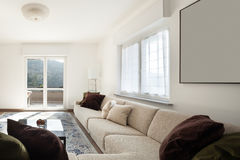 Living room with big sofas Royalty Free Stock Photo