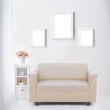 Living room with blank poster or photo frame Royalty Free Stock Photography