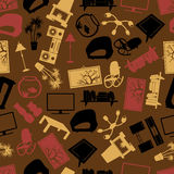 Living room brown color pattern. Eps10 Stock Photos
