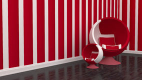 Living room chair red Royalty Free Stock Photos