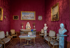 Living room of Chapultepec Castle - Mexico City, Mexico Stock Images