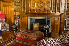 Living room in Charlecote Victorian House Stock Photo