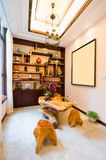 Living room with Chinese style Royalty Free Stock Photo