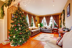 Living room on Christmas eve Royalty Free Stock Photo