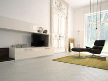 Living room. Classic living room in a apartment vector illustration