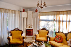 Living Room. Classic living room in a luxury house Royalty Free Stock Images