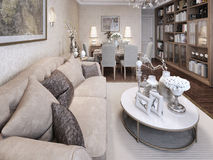 Living room classic style Stock Images