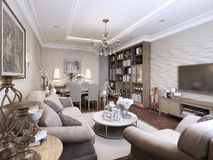 Living room classic style Stock Photography