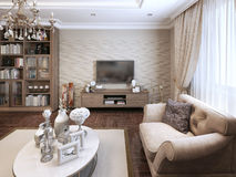 Living room classic style Royalty Free Stock Images