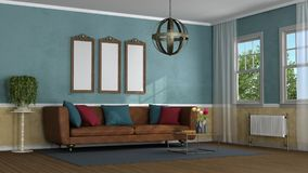 Living room in classic style Stock Photos