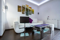 Living room with Cliffs of Moher picture Royalty Free Stock Photos