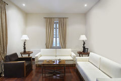 Living Room In Colonial Style House Royalty Free Stock Photos