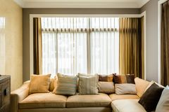 Living room in a condominium Stock Image