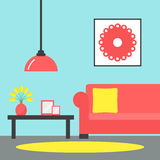 Living room. Contemporary living room interior. Royalty Free Stock Photography