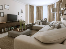 Living room in Contemporary style Royalty Free Stock Photography