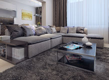 Living room contemporary style Stock Photos