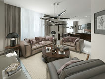 Living room contemporary Style Royalty Free Stock Images