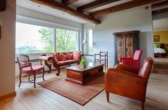 Living room in countryside villa Stock Photo