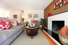 Living room cozy beautiful interior design. Stock Photography