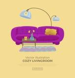 Living room cozy interior Stock Photo