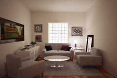 Living Room Royalty Free Stock Images