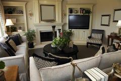 Living room decor stock photography