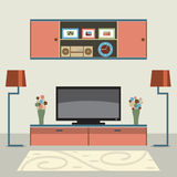 Living Room Decorated. Stock Images