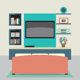 Living Room Decorated. Royalty Free Stock Images