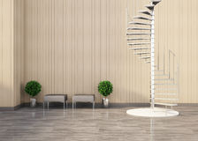 Living room Decoration and stair Stock Photos