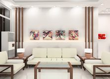 Living room design stock illustration