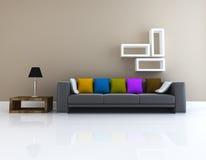 Living room design 3D rendering Stock Photography