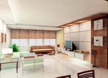 Living room design stock image