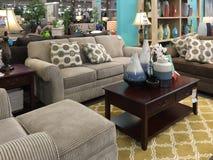 Living room design in  furniture market Royalty Free Stock Image