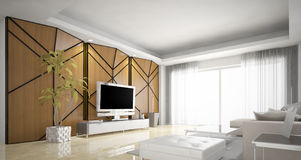 Living room design, Modern Stock Photography