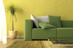 Living room detail royalty free illustration