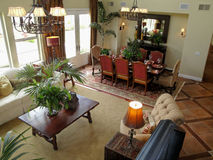 Living Room and Dining Room Royalty Free Stock Photography